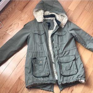 ❄️F21 Shepra Lined Cargo Jacket